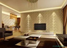 Tv ünitesi duvar kağıdı modeli