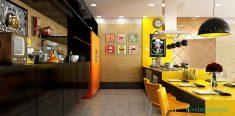 Sarı mutfak dizaynı ve dekorasyonu