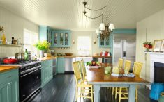 Açık Mavi Mutfak Modelleri
