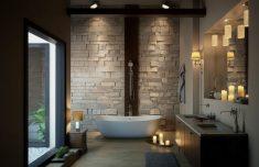 Banyolarda ahşap banyo tasarımı