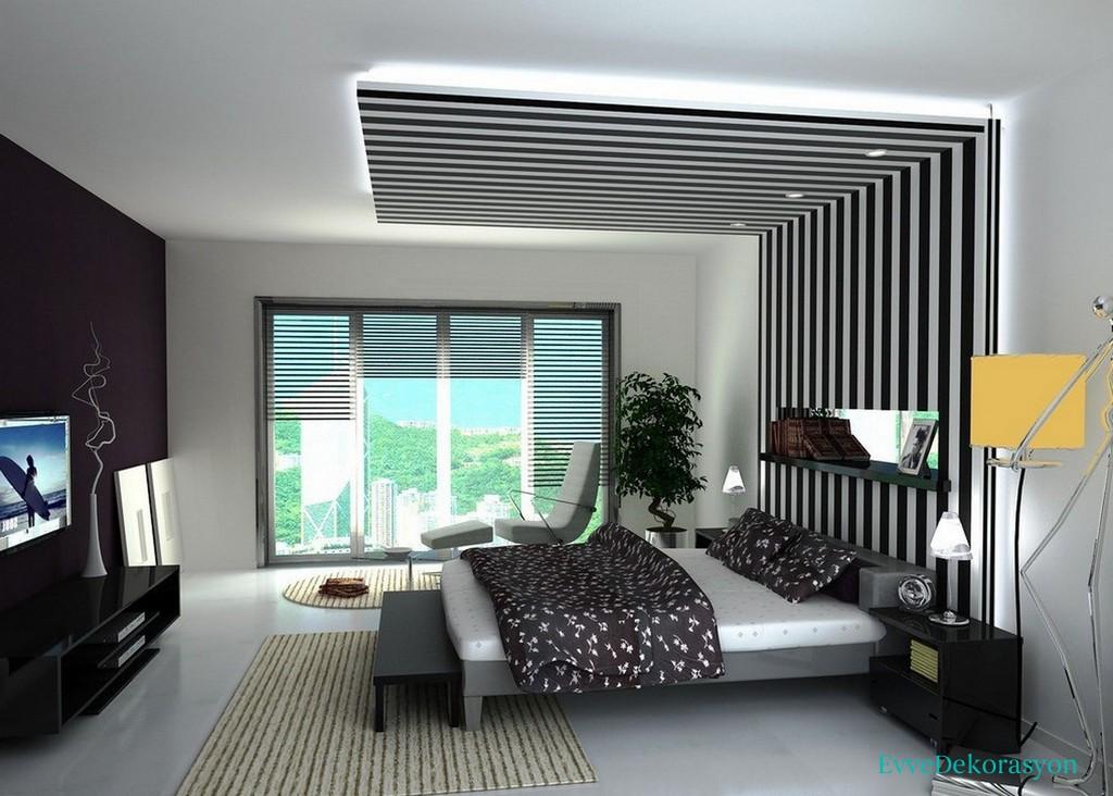 Alçıpan tavan ve mobilya uyumu