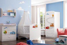 Beyaz bebek odası