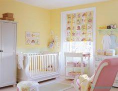Sarı bebek odası stili