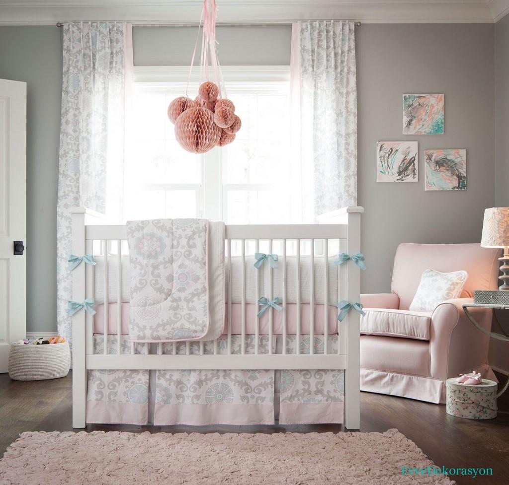 Gri bebek odası stilleri