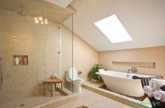 Bej renk banyo mobilyası