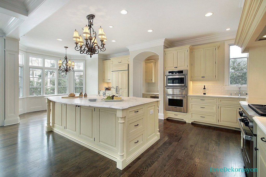 Beyaz ahşap mutfak modelleri