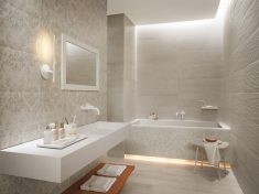 Beyaz Dekoratif Banyo Modeller