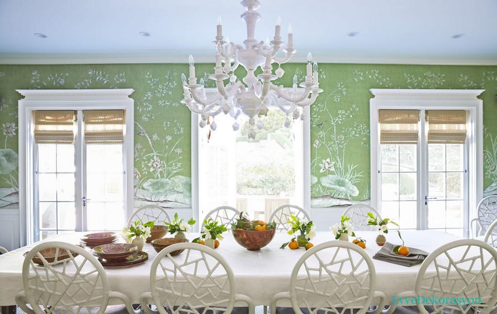 Beyaz renkli yemek masası modelleri