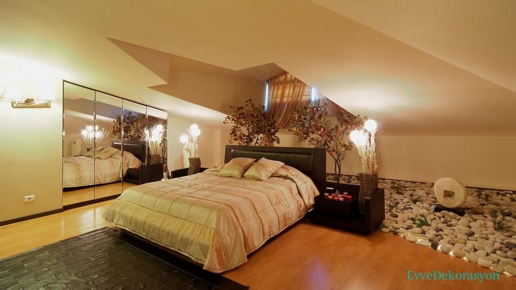 Teras yatak odası