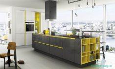 Sarı siyah mutfak modeli