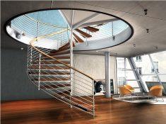 Ofis içerisinde döner merdiven tasarımı