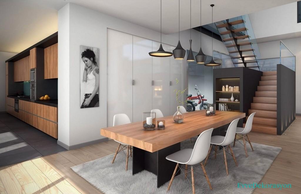 İlginç yemek odası dizaynı