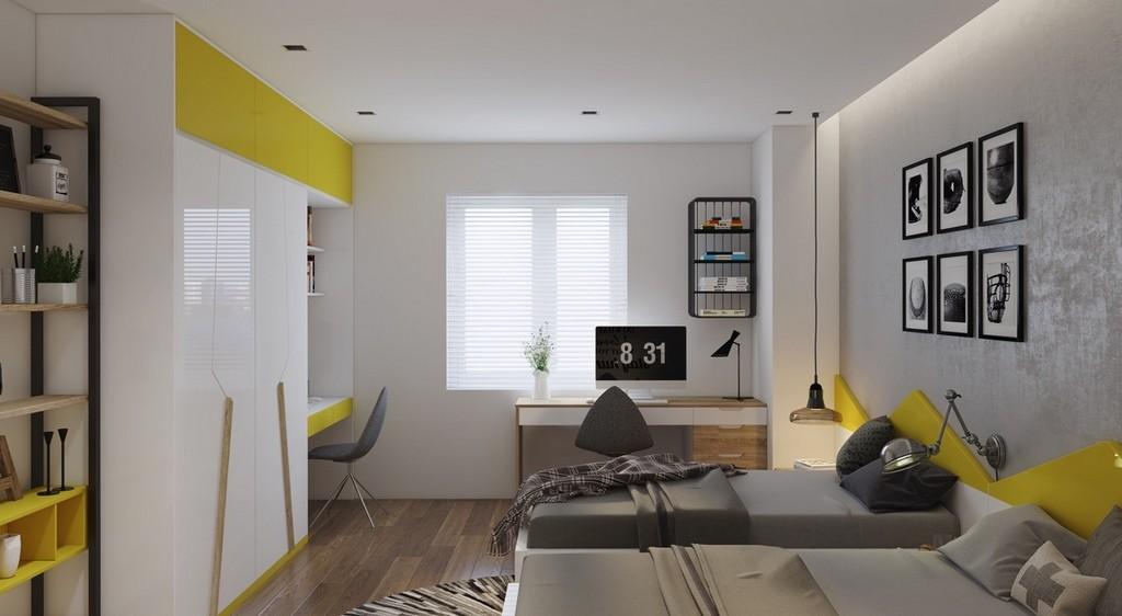 Yatak odası uyumlu renkler