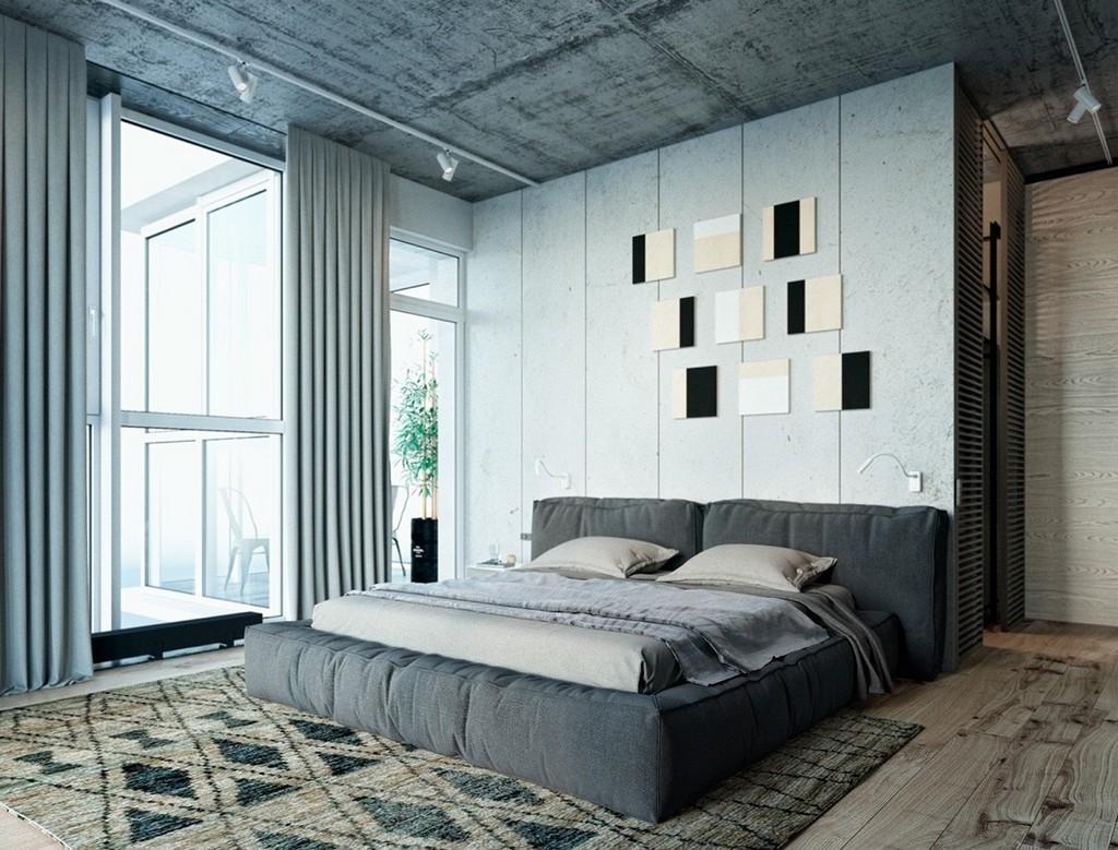 Sade yatak odası dekorasyonu