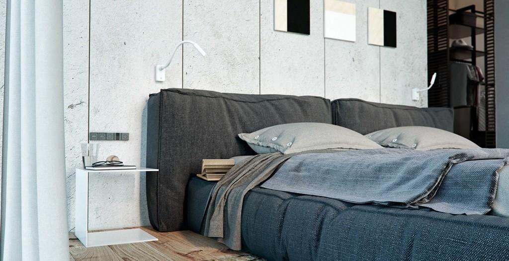 Rahat bir yatak odası stil