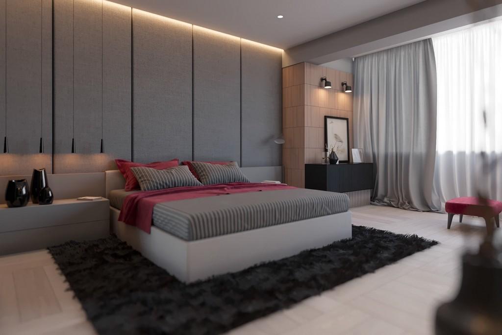 Sakin bir yatak odası stili