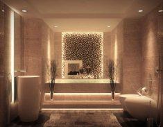 Banyoda loş ışık