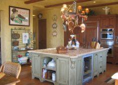 Krem Rengi Ada Mutfak Tasarımı