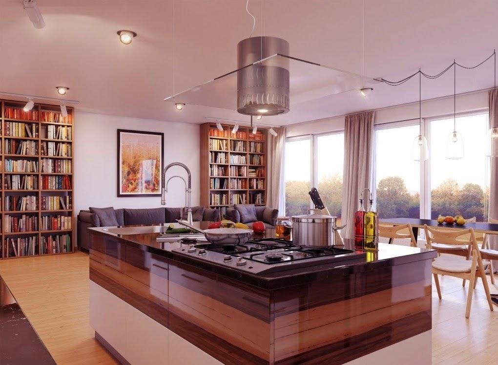 Lüks Ada Mutfak Tasarımı