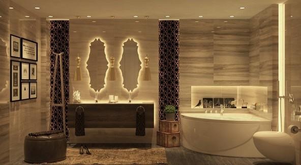 Mermer banyo dekorasyonu