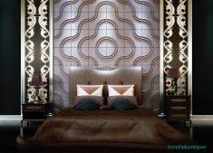 Oval desen lüx yatak odası tasarımı