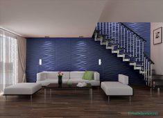 Mavi renk tonlarında duvar kağıdı