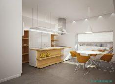 Minimalist mutfak dekorasyonu