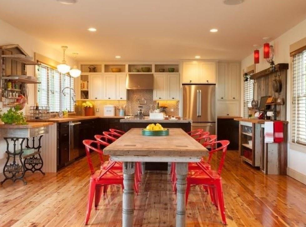 Mutfak içerisindeki yemek odası