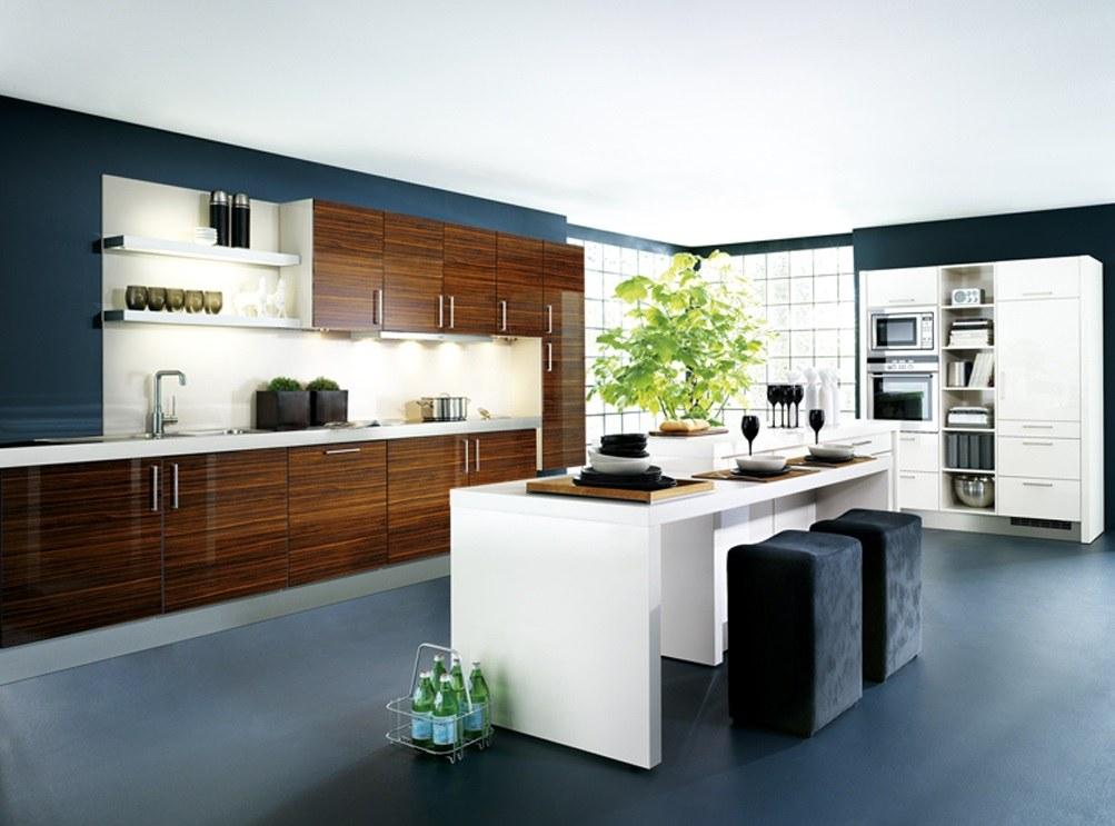 Siyah ve beyaz renklerdeki mutfaklar