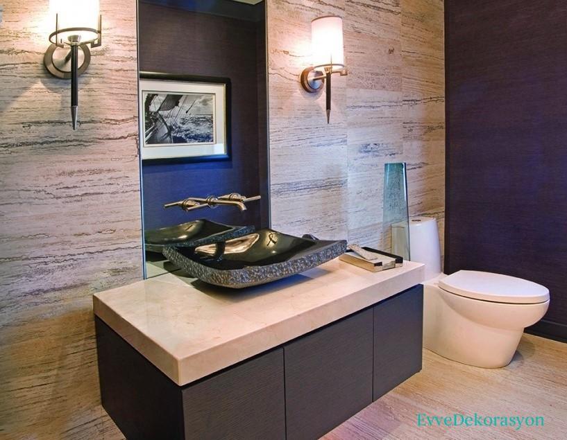 Tuvaletlerde modern görünüm