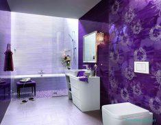 Mor banyo tasarımı