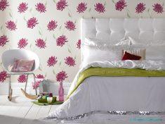 Çiçek desenli duvar kağıt modelleri