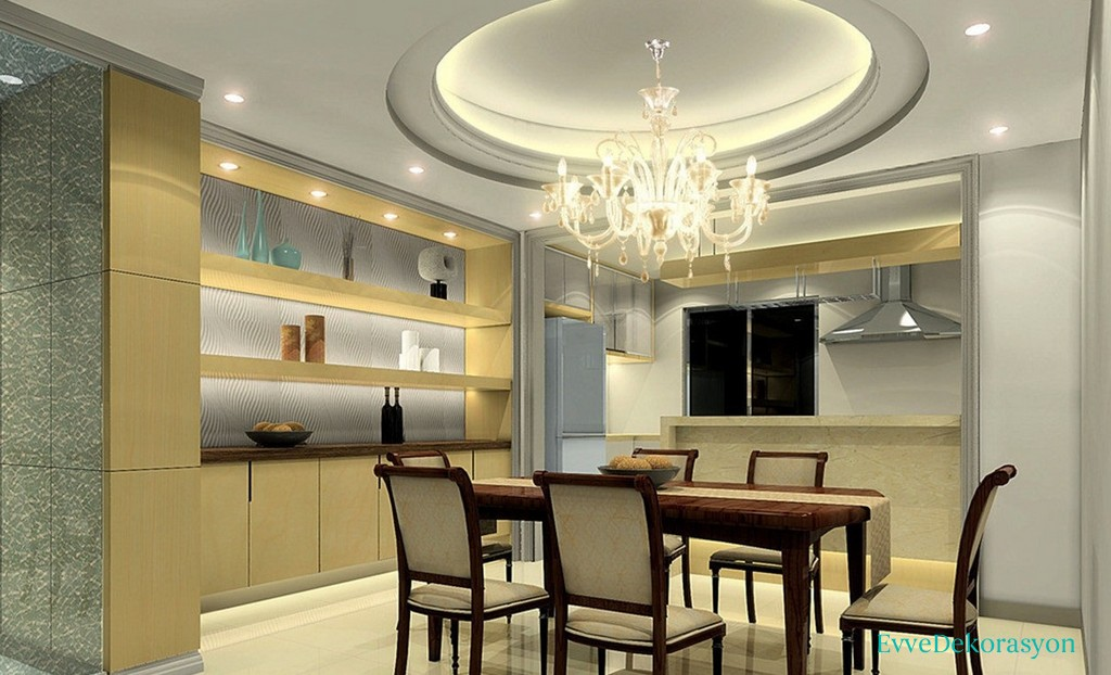 Modern kitchen with dining room
