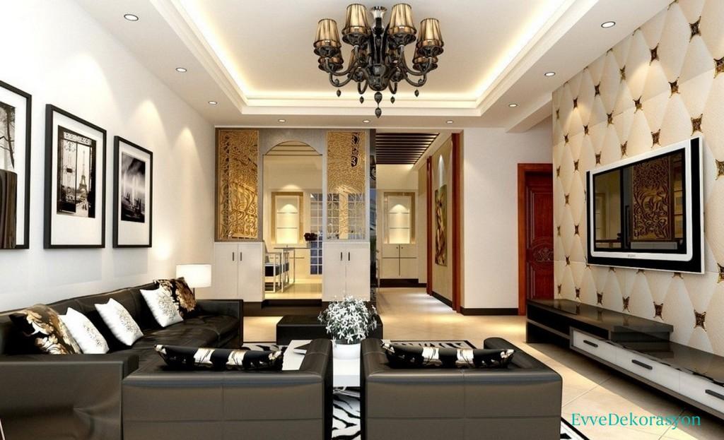 Oturma odası alçıpan tavan