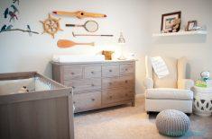 Retro sitili bebek odası