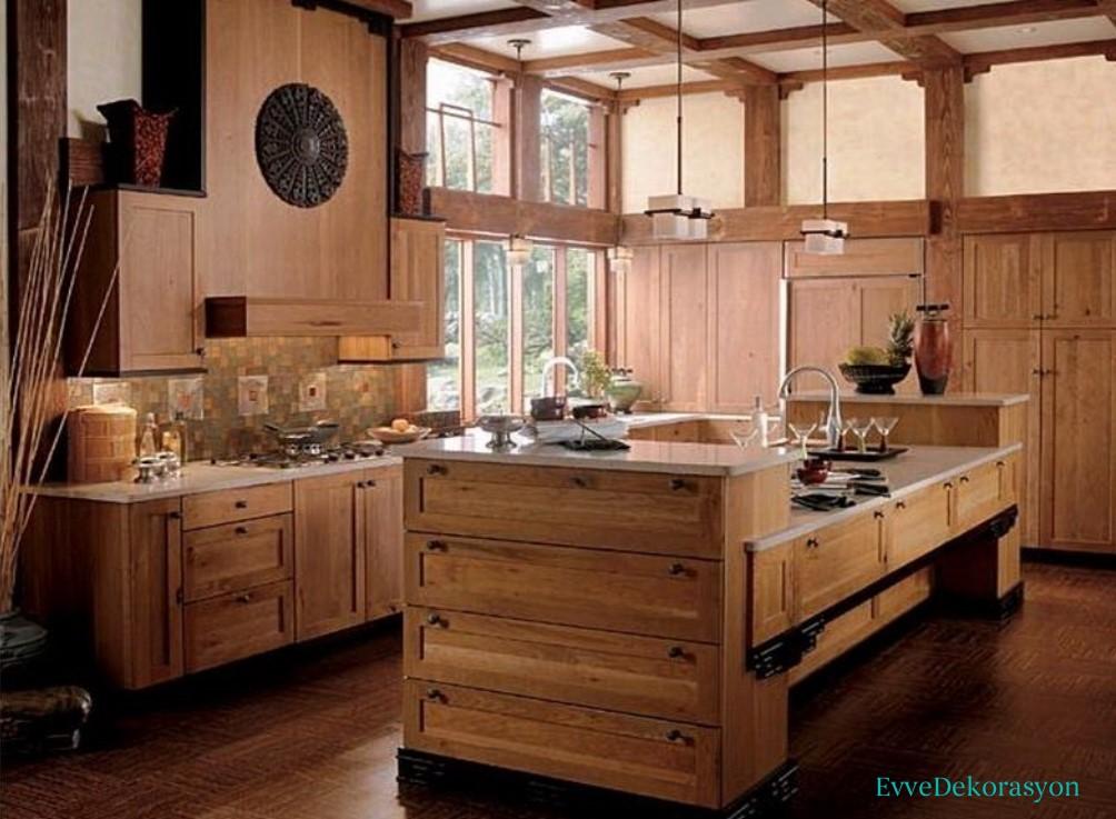 Mutfaklarda rustik akım