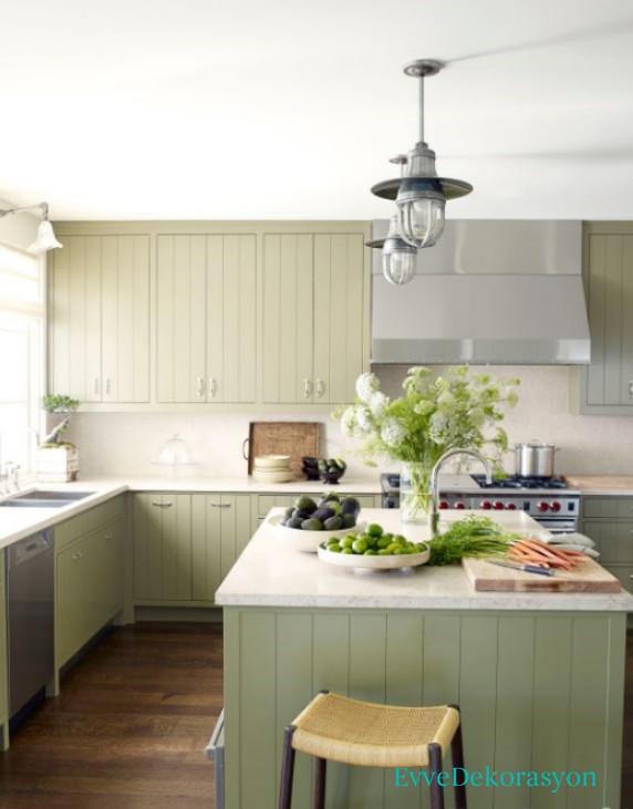 yeşil mutfak modeli