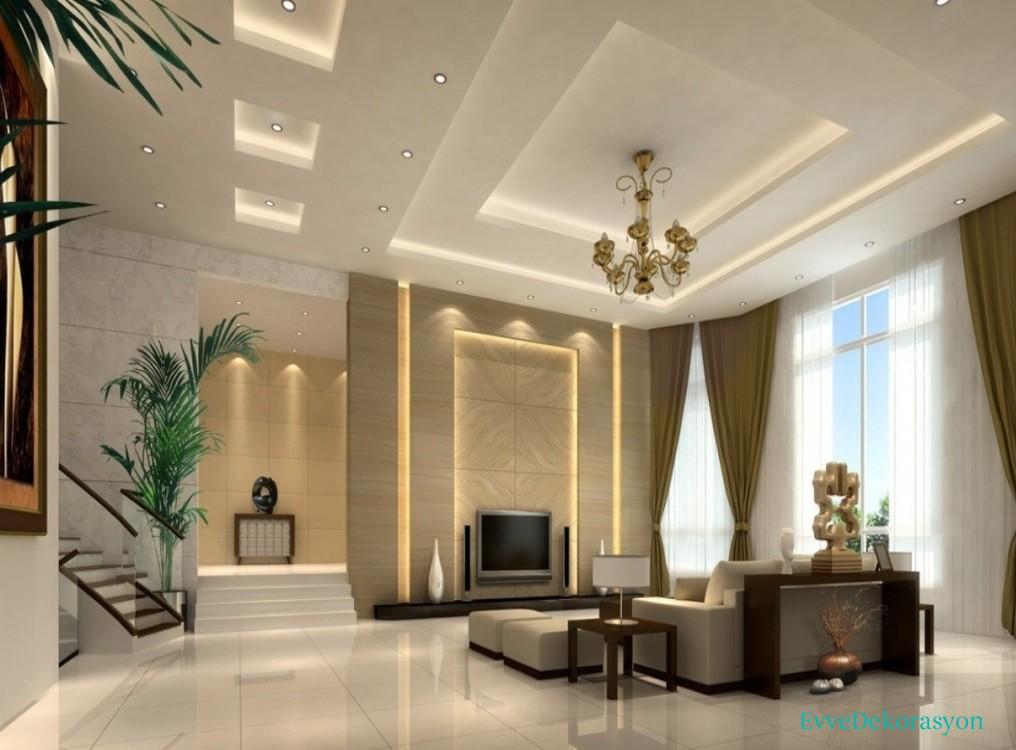 Salonlarda alçıpan tavan kullanımı