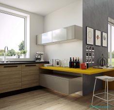 Basit mutfak tasarımı