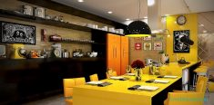 Sarı Renk Mutfak Dizaynı