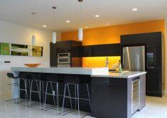 Sarı ve Siyah açık mutfak modeli