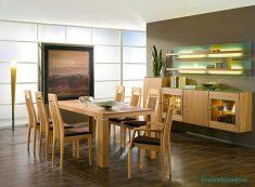 Basit ve hoş yemek odaları