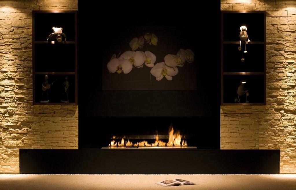 Şömine ile salon dekorasyonu