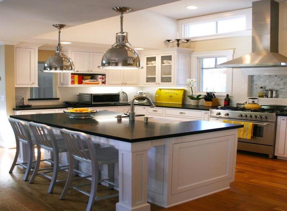Siyah beyaz mutfak stili