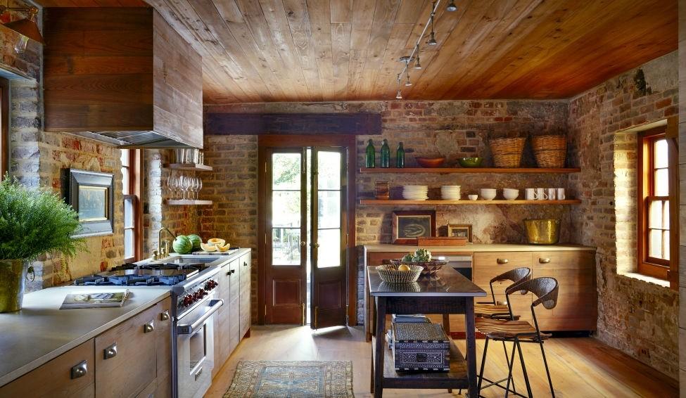 Taş Duvar Mutfak Modelleri