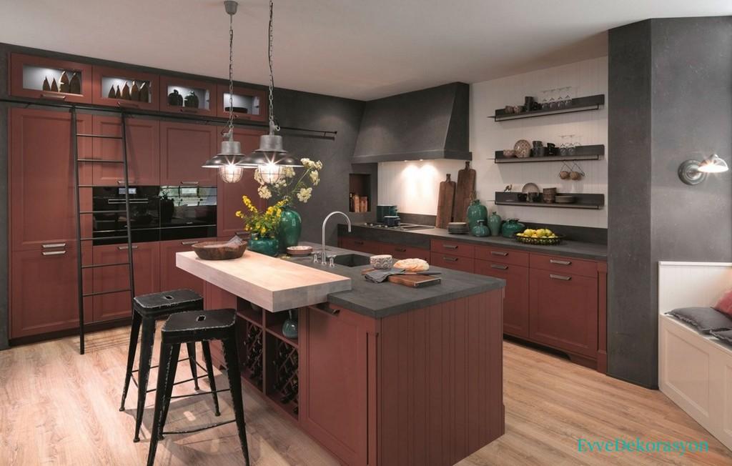 Ada Mutfak Dolap Tasarımı