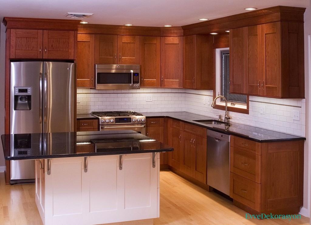 Metalik Renk Beyaz Eşya Ve Mutfaklar