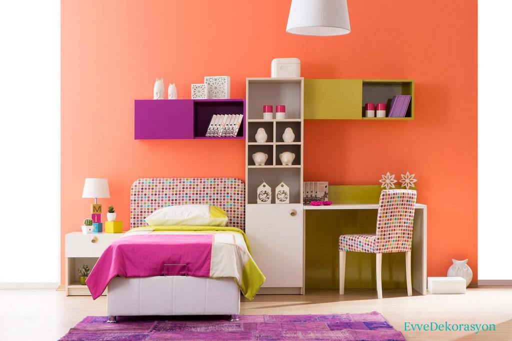 Renklerin Büyülü Ortamında Genç Odası Modeli