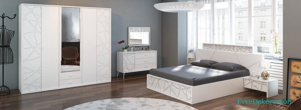 Mozaik Desen yatak Odası Takımları