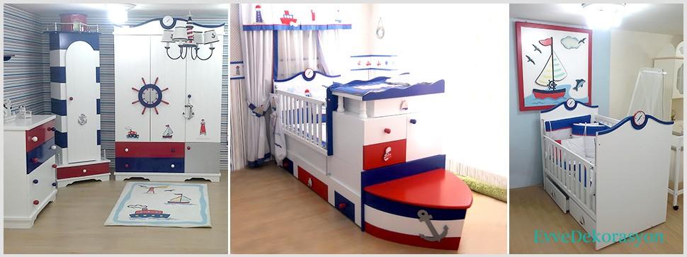 Denizcilik Temalı Bebek Odası